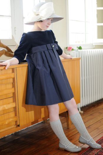 """Robe """" l'heure anglaise"""" - Bbk Creations"""