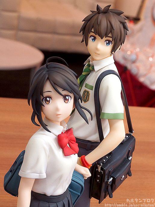 2pcs Your Name Kimi no Na wa Miyamizu Mitsuha Tachibana Taki Figure PVC No Box