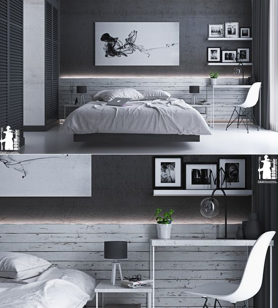 Home Designing — (via These Dark Bedrooms Will Put You In A...