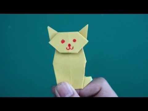 Lucu Cat Origami Cara Membuat Kucing Dari Kertas Mudah Banget