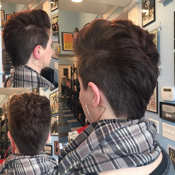 Faux Hawk Pixie combo hairstyle for women