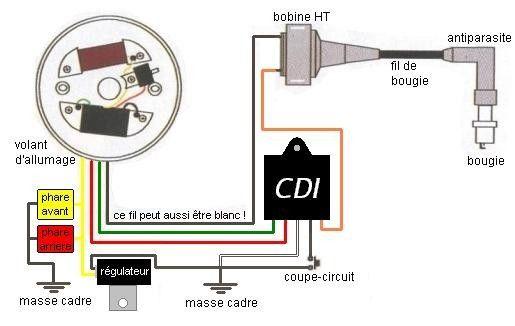 antiparasite mobylette motobecane mbk 51 electronique