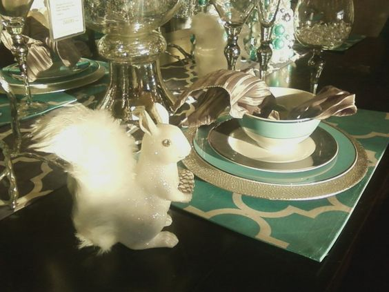 squirrel plus tiffany blue tableset...i LOVE z. gallerie.