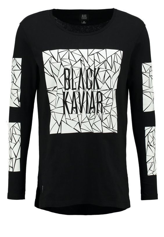 Black Kaviar - ANAMED - Langarmshirt - black