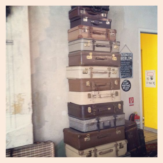 Old suitcases as deco