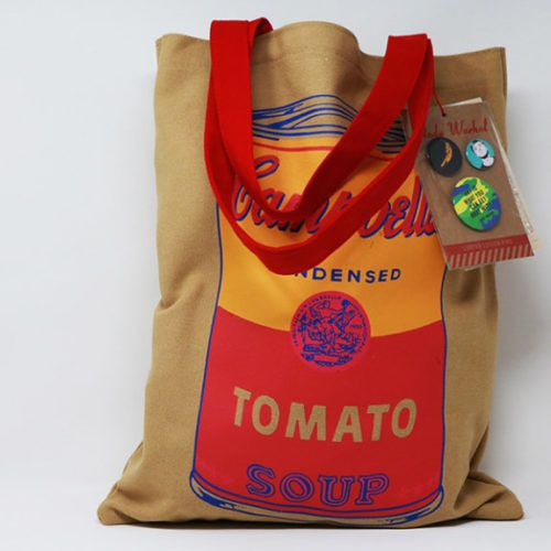 Campbell Soup Can Tote Bag By Warhol Musart Boutique Campbell S Soup Cans Campbell Soup Campbell