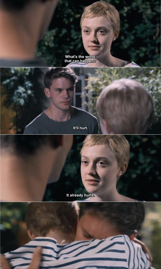 My favorite quote in Now Is Good (2012), starring Dakota Fanning and Jeremy Irvine.: