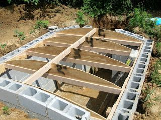 Root Cellar - the author said it cost about $1,000 for this 8x8 foot cellar…