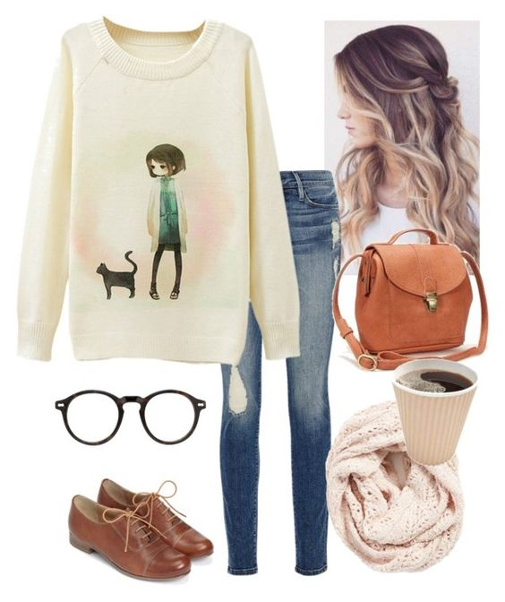 """Ok"" by a-dance02 ❤ liked on Polyvore featuring Frame Denim, Monsoon, Moscot, Lemon, women's clothing, women, female, woman, misses and juniors"