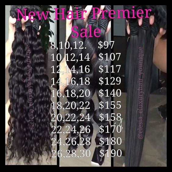 Sale ends Wednesday!  Looked high and low but I finally found my old #ChinaConnect and I believe you all will be happier with these prices! Theses prices will last for 3 days only then they will go up but  not too much! #eluxuryhair #RawVirginHair #Enjoy #ThankMeLater #AllAboutCustomerSatisfaction by elesia_eluxuryhair_younique