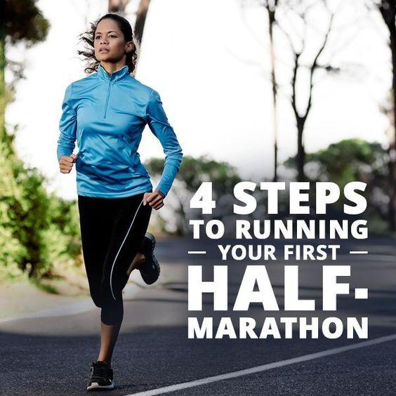 4 Steps to Running Your First Half-Marathon #running #runner #halfmarathon