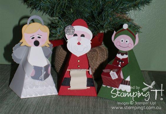 witzige Weihnachtsfiguren