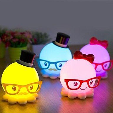 Strange New Cute Octopus Model Energy-Saving Small Night Light LED Desk Lamp   – USD $ 19.99