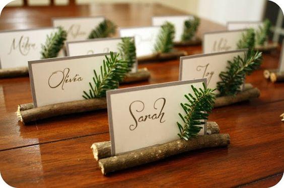 Segnaposto per la tavola di natale 15 idee fai da te - Idee tavoli fai da te ...