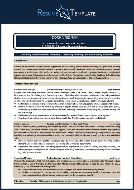 Sales resume template (normanbean6858) on Pinterest