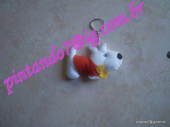 ♥Chaveiro cachorro akita♥