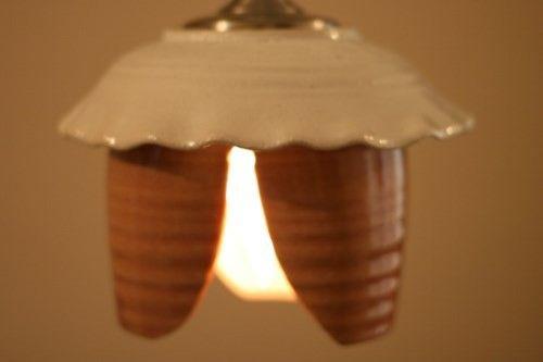 径16.5cm×高さ13cm 重さ1100gチューリップみたい…かな?電球の明かりがどんなふうに広がるかな…って想像し...|ハンドメイド、手作り、手仕事品の通販・販売・購入ならCreema。