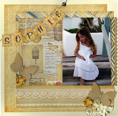Miss Teagen Sue layout... brand new patterned paper collection by Bazzill.