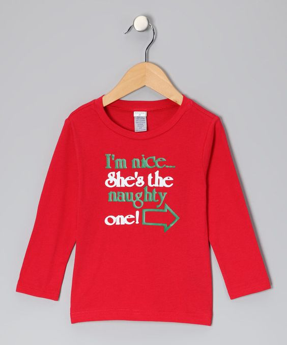 Loving this Red 'She's the Naughty One' Right Tee - Toddler & Kids on #zulily! #zulilyfinds