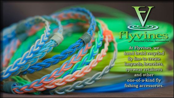 Flyvines home. They recycle fly fishing line into bracelets, lanyards, and dog collars.