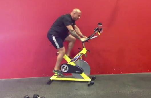 ready to amp up your workout? try the SPIN-cinerator from @angrytrainerfit #livewellnow @gnclivewell #fitfluential