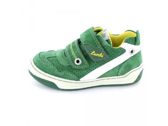 Lurchi Bruce - Kinderhalbschuh aus Rauh-/Veloursleder in grün