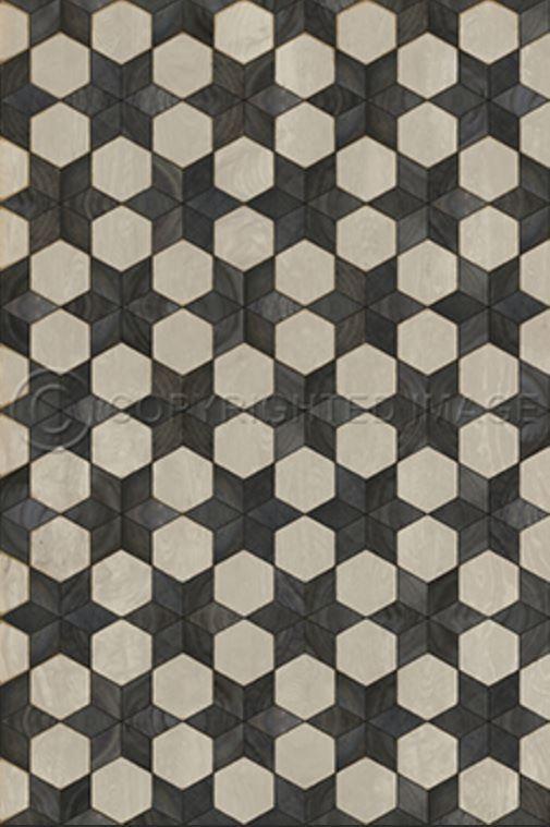Spicher Co Vinyl Floor Mat Artisanry Illuminated Black Star