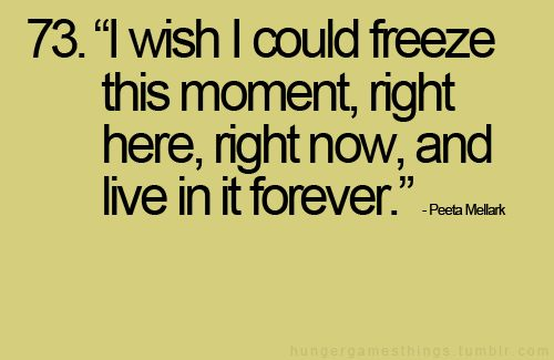 i wish i could freeze this moment, right here, right now, and live in it forever