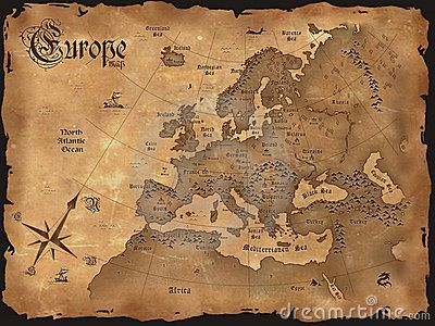 old map of europe Hencoop Hollow Bedroom Pinterest Vintage Maps and Ol