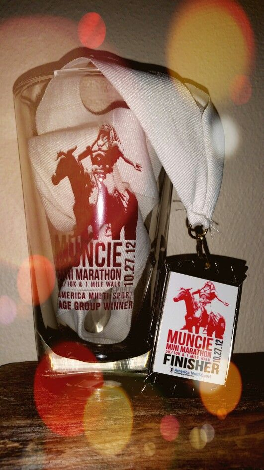 Muncie Mini Marathon - 10k 10/27/2012 <<<Place 1st in Age Group.>>> Time: 56:51. Pace 9:08. Gender Place 9, Overall Place 25.