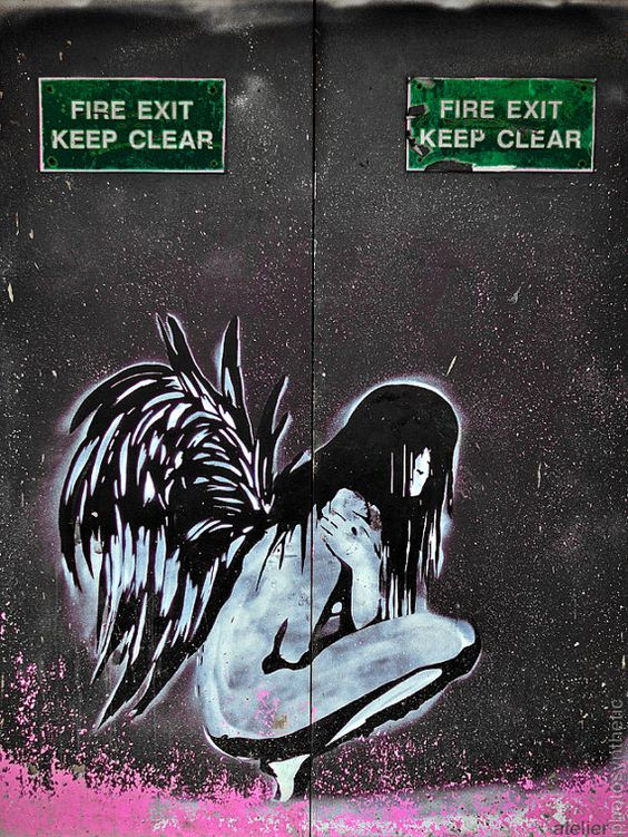 Hey, I found this really awesome Etsy listing at https://www.etsy.com/listing/72574021/last-exit-graffiti-angel-spraycan-street
