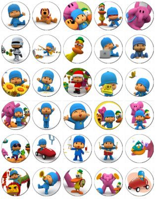 30 X Pocoyo Rice Paper Fairy Cup Cake Toppers
