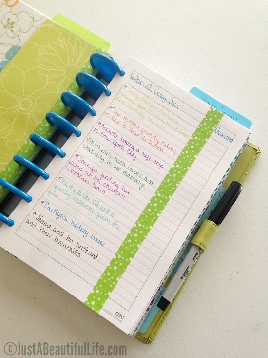 how to set up a prayer journal