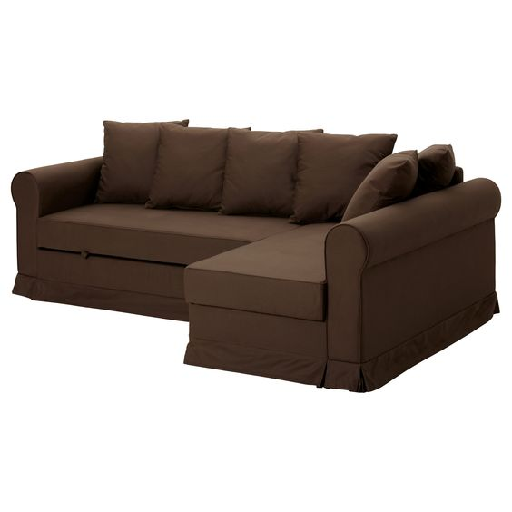 MOHEDA Corner sofa-bed - IKEA  Lazyboy needs to make one the pull out opens the length of the couch instead of out in the middle of the room...def need a different color