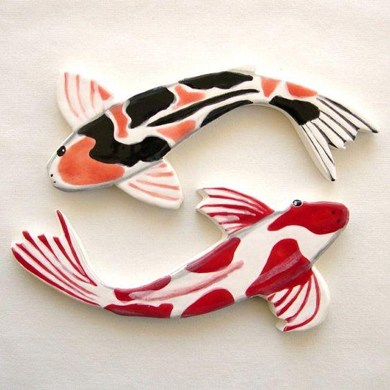 Carreaux de mosaique de Koi main poisson en par ArtTileMosaics
