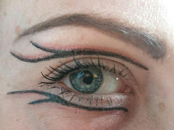 Hunger games inspired eyeliner
