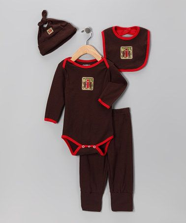 Take a look at this Brown & Red 'IH' Camo Layette Set - Infant by International Harvester on #zulily today!