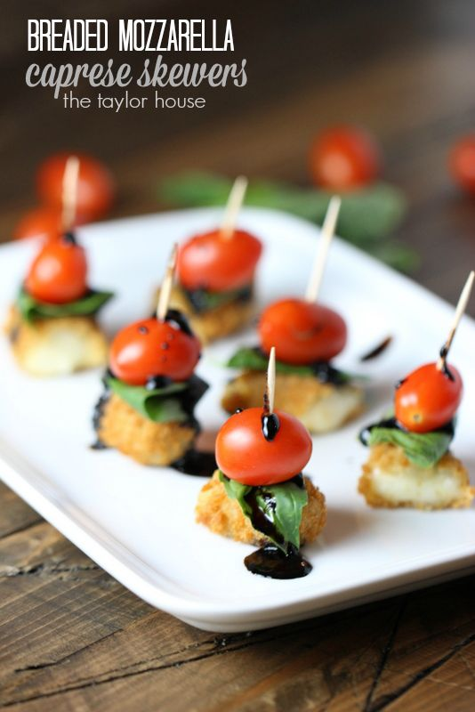 Super bowl appetizers ideas caprese skewers and super for Super bowl appetizers pinterest