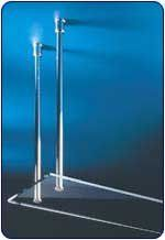 Hafele Beta Shelf Suspension System in Bright Chrome Polished, 2 per box by Hafele. $240.02. Beta shelf suspension system. Hafele Shelf Suspension Systems attach through wood or glass and are designed fro shelves that are suspended from the ceiling. The Beta Shelf Suspension System features a threaded rod, a tube, an upper sleeve, a centering ring, a sleeve nut and a rubber clamping ring. The rods are made of steel and brass and have a load capacity of 50kg (110 lbs.) per r...