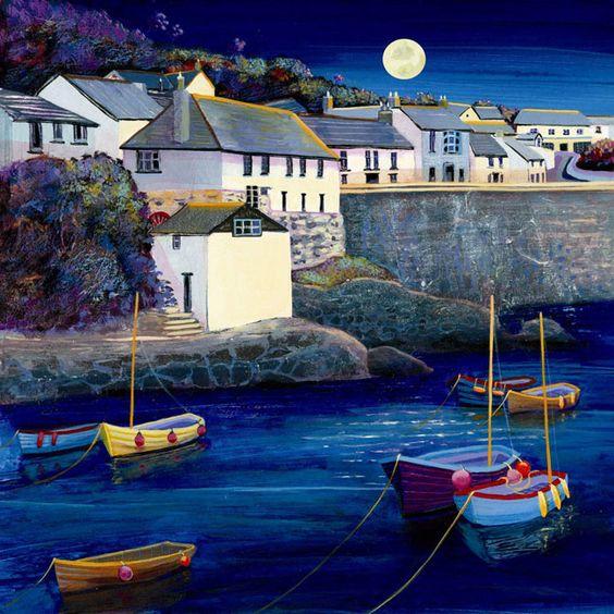 UK ~ Coverack Moonlight ~ Gilly Johns: