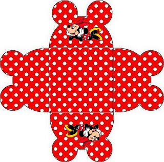 Imprimibles de Minnie Mouse en rojo.