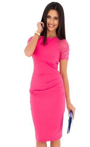 Casey Pink Dress *Pre Order Dispatch 05/03/14* - Lady VB