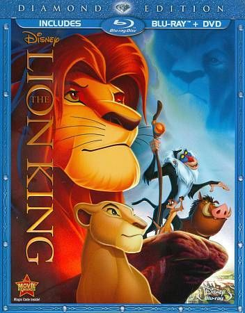 The Lion King (Blu-ray/DVD, 2011, 2-Disc Set, Diamond Edition) - This is definitely one of the best movies out there .$16.99