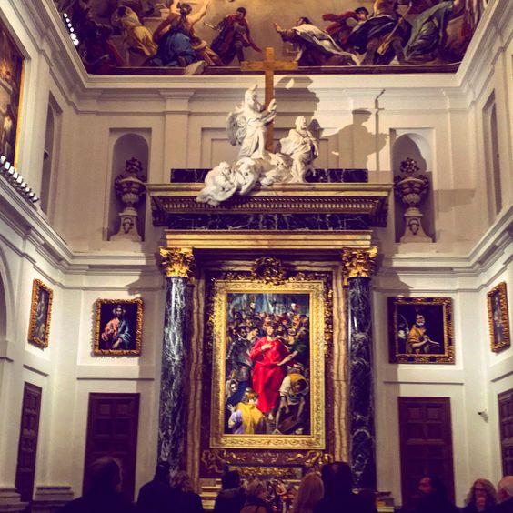 """Cuadro """"El Expolio"""" de El Greco en la Sacristía de la Catedral de Toledo"""