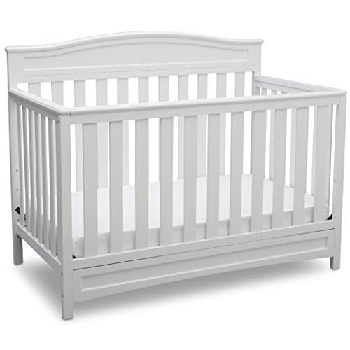 Delta Children Emery 4 In 1 Convertible Baby Crib White Delta Children In 2020 White Baby Cribs Best Baby Cribs Baby Cribs Convertible White baby cribs for sale
