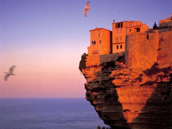 Fortress At Bonifacio, Corsica, France