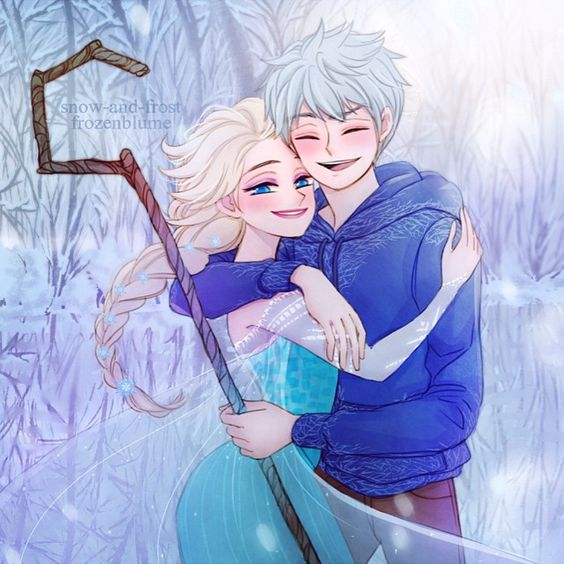 #Jelsa collab with shun! (snow-and-frost@tumblr / _shushushun@twitter). She did the lineart and I did the colouring~ emojiemoji️