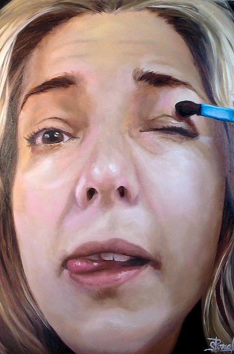 Sharon Pomales TRANSFORMING A PORTRAIT THROUGH THEMES OF DISGUISE, BY APPLYING MAKEUP