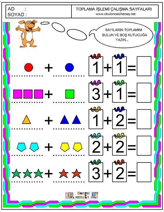 Znalezione Obrazy Dla Zapytania Okul Oncesi Matematik Calisma