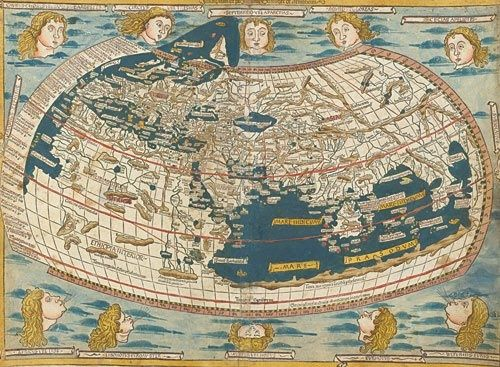 World Map by Claudius Ptolemaeus, Roman geographer, second century A.D.